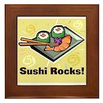 Sushi Rocks Framed Tile