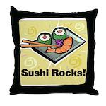 Sushi Rocks Throw Pillow