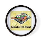 Sushi Rocks Wall Clock
