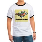 Sushi Rocks Ringer T