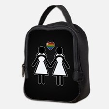 Mrs. & Mrs. Lesbian Pride Bride Neoprene Lunch Bag