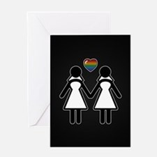 Mrs. & Mrs. Lesbian Pride Brides Greeting Cards