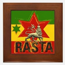 Rasta Irie Lion Framed Tile