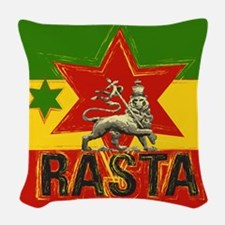 Rasta Irie Lion Woven Throw Pillow