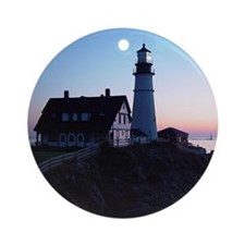 Portland Headlight Daybreak Ornament (Round)