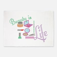 Beauty Is Life 5'x7'Area Rug