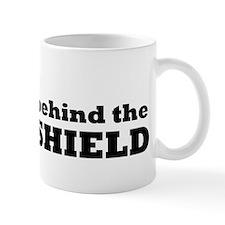 Behind the blast shield Mug