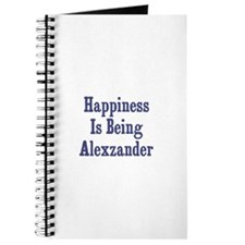 Happiness is being Alexzander Journal