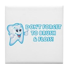 Brush & Floss Tile Coaster