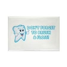 Brush & Floss Rectangle Magnet