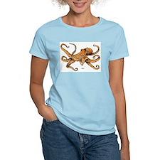 Octopus Ocean Life (Front) Women's Pink T-Shirt