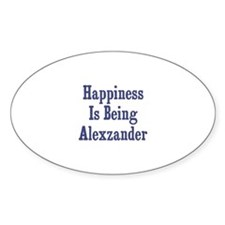 Happiness is being Alexzander Oval Decal