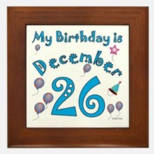 December 26th Birthday Framed Tile