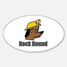 Cool Rock hounding Sticker (Oval)