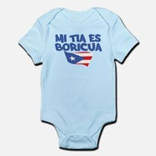 Mi Tia Es Boricua Infant Bodysuit