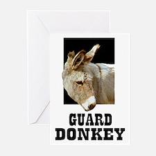 GUARD DONKEY Greeting Cards (Pk of 10)