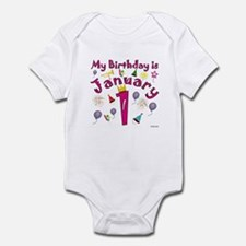 New Year Birthday January 1st Infant Bodysuit