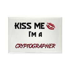 Kiss Me I'm a CRYPTOGRAPHER Rectangle Magnet
