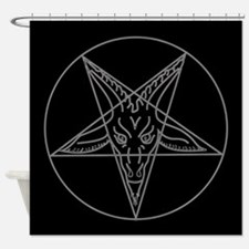 Cute Pentagram Shower Curtain