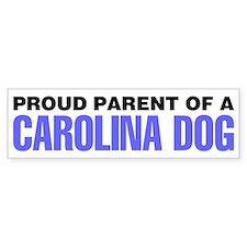 Proud Parent of a Carolina Dog Bumper Sticker