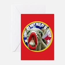 FRUITCAKE DONKEY Greeting Cards (Pk of 10)