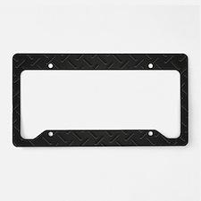 Black Metal License Plate Holder