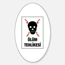 Electric Danger, Turkey Oval Decal