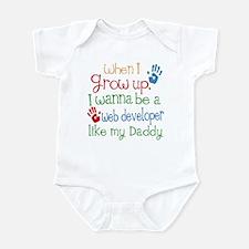 Web Developer Like Daddy Infant Bodysuit