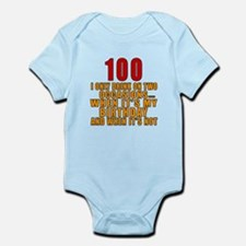 100 Birthday Designs Infant Bodysuit