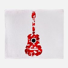 Cute The red chord Throw Blanket