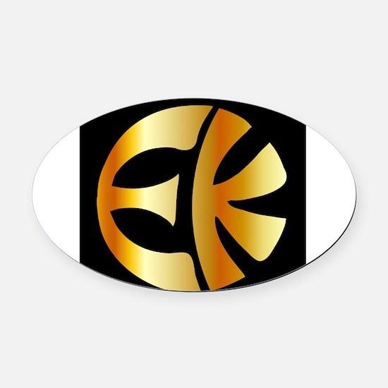 Cute Eckankar Oval Car Magnet