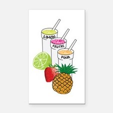 Cute Smoothie Rectangle Car Magnet