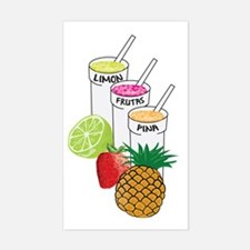 Cute Frutas Sticker (Rectangle)