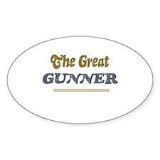 Gunner Oval Decal