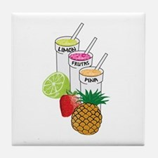 Summer Fruit smoothie Tile Coaster