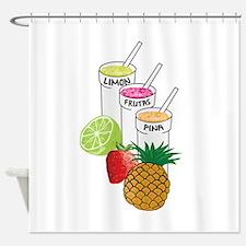 Summer Fruit smoothie Shower Curtain