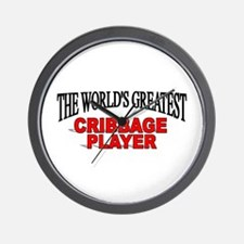 """The World's Greatest Cribbage Player"" Wall Clock"