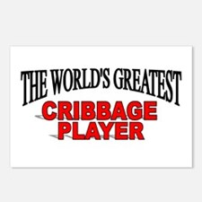 """""""The World's Greatest Cribbage Player"""" Postcards ("""