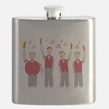 Classic Barbershop Quartet Flask