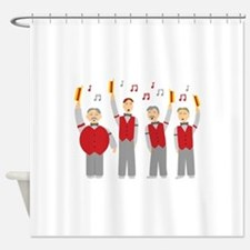 Classic Barbershop Quartet Shower Curtain
