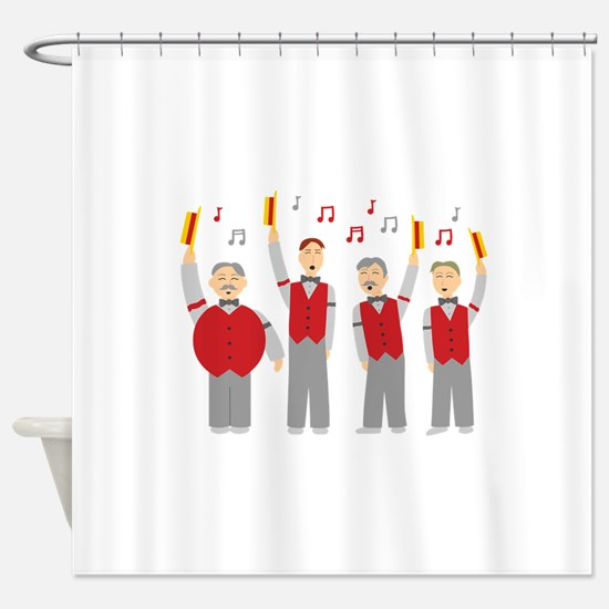 Classic Barbershop Quartet Shower Curtain