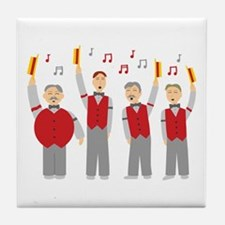 Classic Barbershop Quartet Tile Coaster
