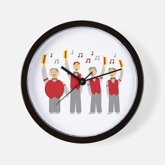 Classic Barbershop Quartet Wall Clock
