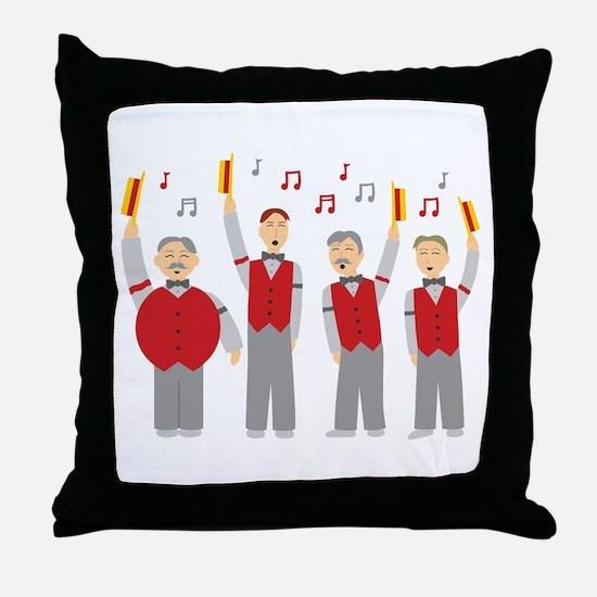 Classic Barbershop Quartet Throw Pillow