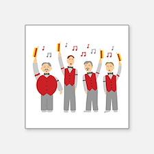 """Classic Barbershop Quartet Square Sticker 3"""" x 3"""""""