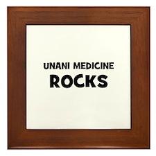 Unani Medicine Rocks Framed Tile