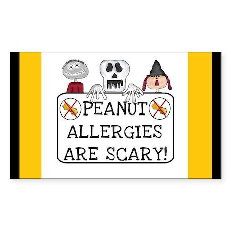 Halloween Peanut Allergy Rectangle Sticker