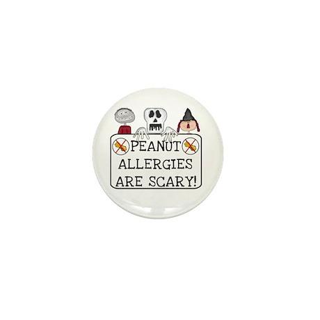Halloween Peanut Allergy Mini Button