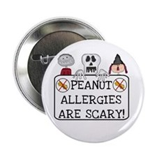 Halloween Peanut Allergy Button