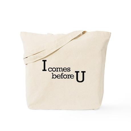 I comes before Tote Bag